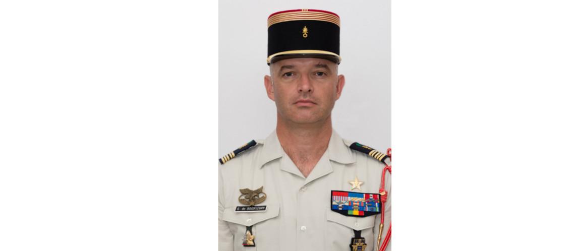 Le colonel de Boisfleury, nouveau patron du 2ème REG