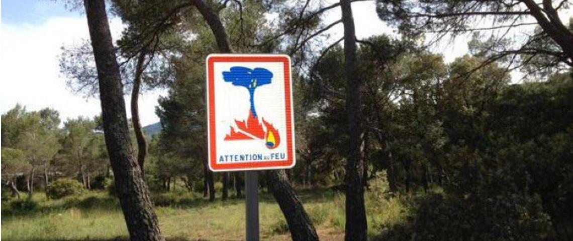 Attention aux feux de forêts en raison du fort mistral!