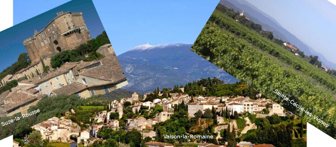 Vaison, Sainte-Cécile et Suze-la-Rousse: 3 nouveaux Côtes-du-Rhône villages avec noms de communes