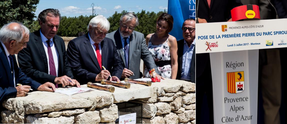 Le Parc Spirou de Monteux pose sa première pierre