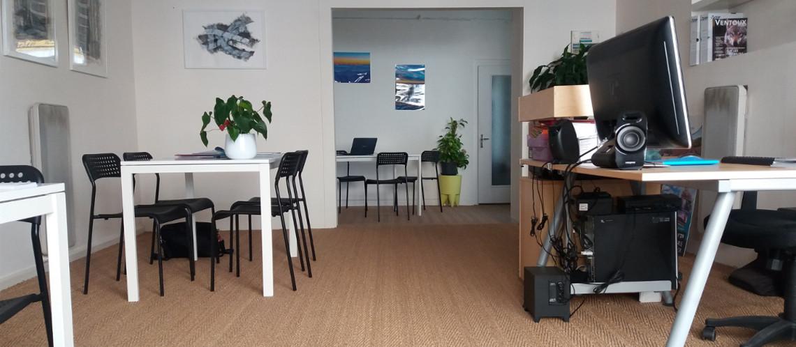 Un espace de coworking à Vaison-la-Romaine