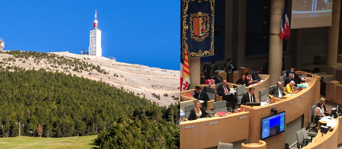 Jour historique pour le Parc du Ventoux : Le Conseil régional a voté la charte