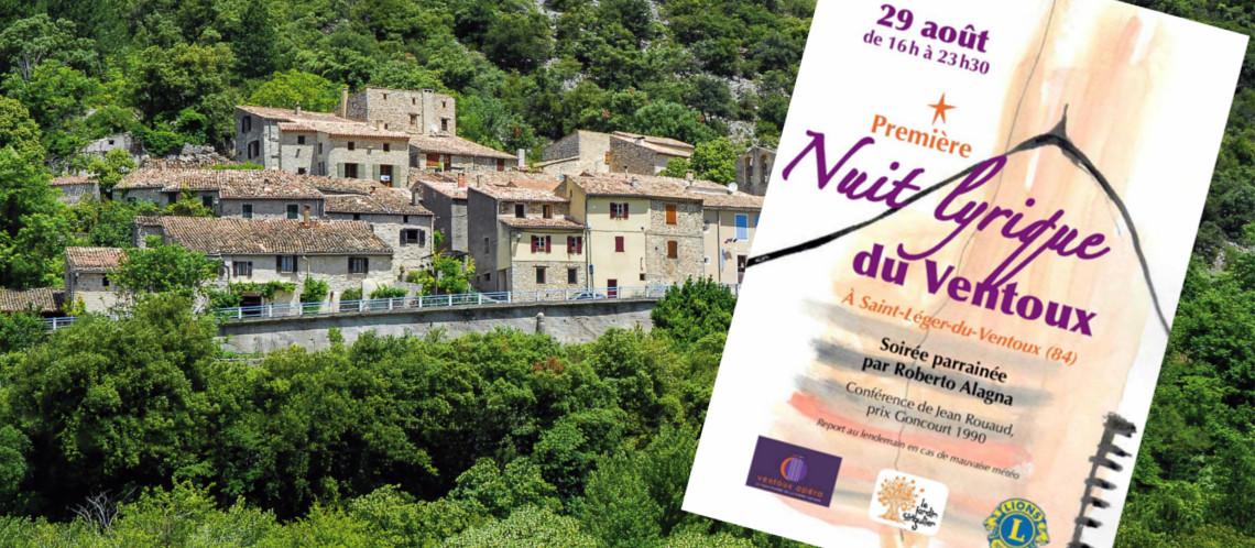 Musique et bel canto sous les étoiles à Saint-Léger-du-Ventoux