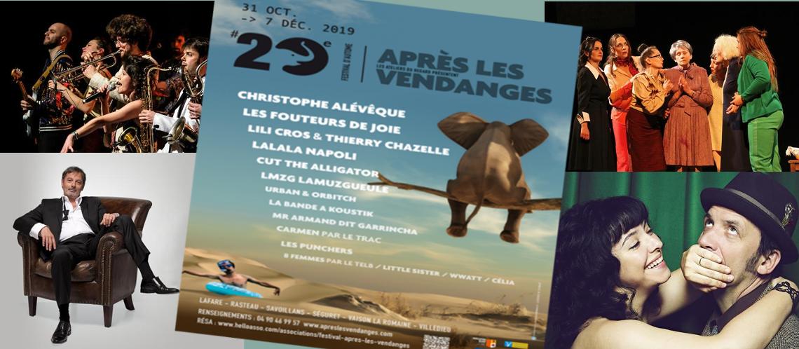 Une programmation foisonnante pour le 20ème Festival Après les vendanges