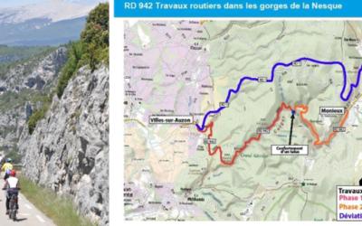 La route des Gorges de la Nesque en travaux pour trois mois